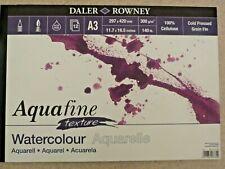 Daler Rowney Aquafine Aquarelle Pad Lisse A4 A3