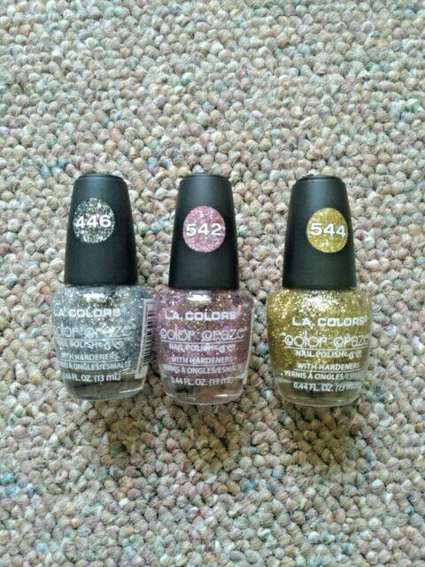 New 3 L A Colors Color Craze Nail Polish 44 Fl Oz 446 Silver 542 Ppl 544 Gold