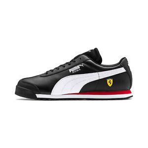 Puma Men's Scuderia Ferrari Roma Black/White/Rosso Corsa Sneakers 30608310 NEW!
