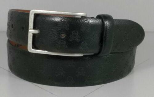 757646 ES20 Men/'s Belt Size 40 Black Leather Skull /& Crossbones Johnston Murphy