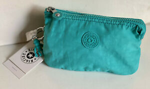 KIPLING-CREATIVITY-LARGE-TRAVEL-POUCH-MAKEUP-BAG-ORGANIZER-WALLET-SEAGLASS-BLUE