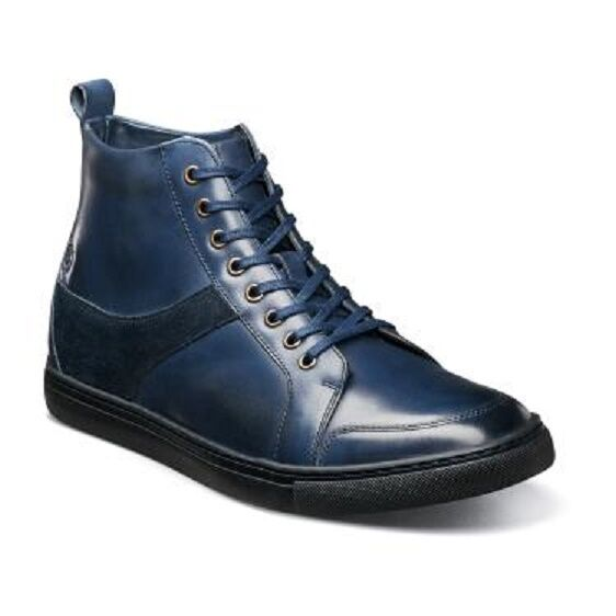 Stacy leather Adams Winchell Moc toe boot Waxy smooth leather Stacy Suede Navy 53429-410 GQ f4d33a