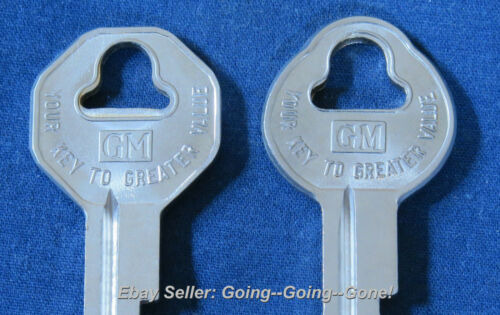SET OF ORIGINAL OEM UNCUT KEY BLANKS PONTIAC 1935-1966 GTO LEMANS SILVER STREAK