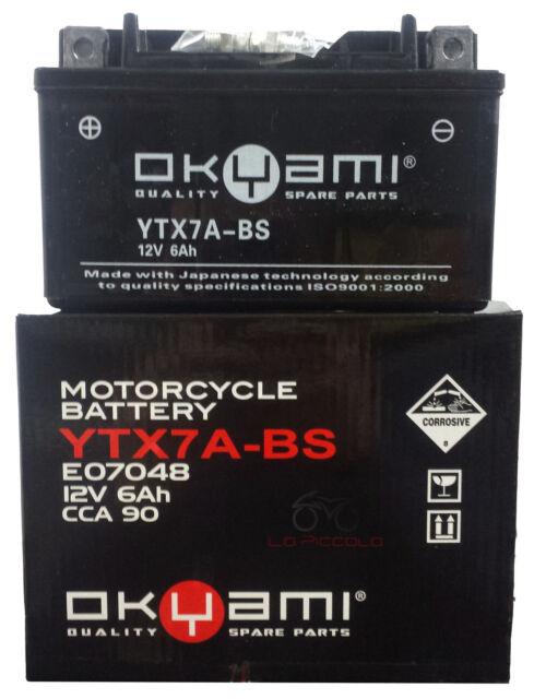 Batería Okyami YTX7A-BS 12V 6AH Suzuki Quad Lt R Quadracer L1 450 2011