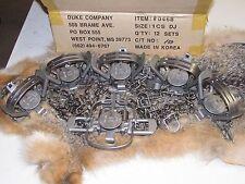 6  Duke #1 Coil Spring double jaw Traps Raccoon Mink Nutria Muskrat  NEW SALE