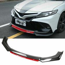 For Toyota Camry 2000 2021 Front Bumper Lip Splitter Chin Spoiler Carbon Fiber E Fits Toyota Yaris