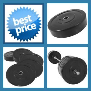 BLACK-25KG-A-GRADE-CLUB-Series-Olympic-Size-RUBBER-BUMPER-GYM-WEIGHT-PLATE