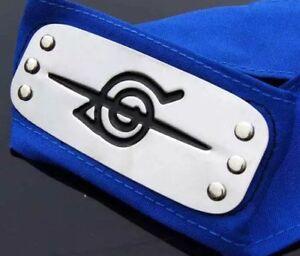 "Naruto Itachi Uchiha Blue Akatsuki Shinobi Headband Cosplay Anime 37"" US Seller"