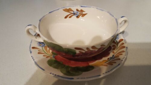 Belle Fiore Vintage Soup Bowl And Saucer