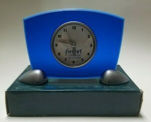 Vintage-PROMO-ONLY-FEMHRT-Acrylic-Desk-Clock-NEW-IN-BOX-Pfizer-Drug-Rep