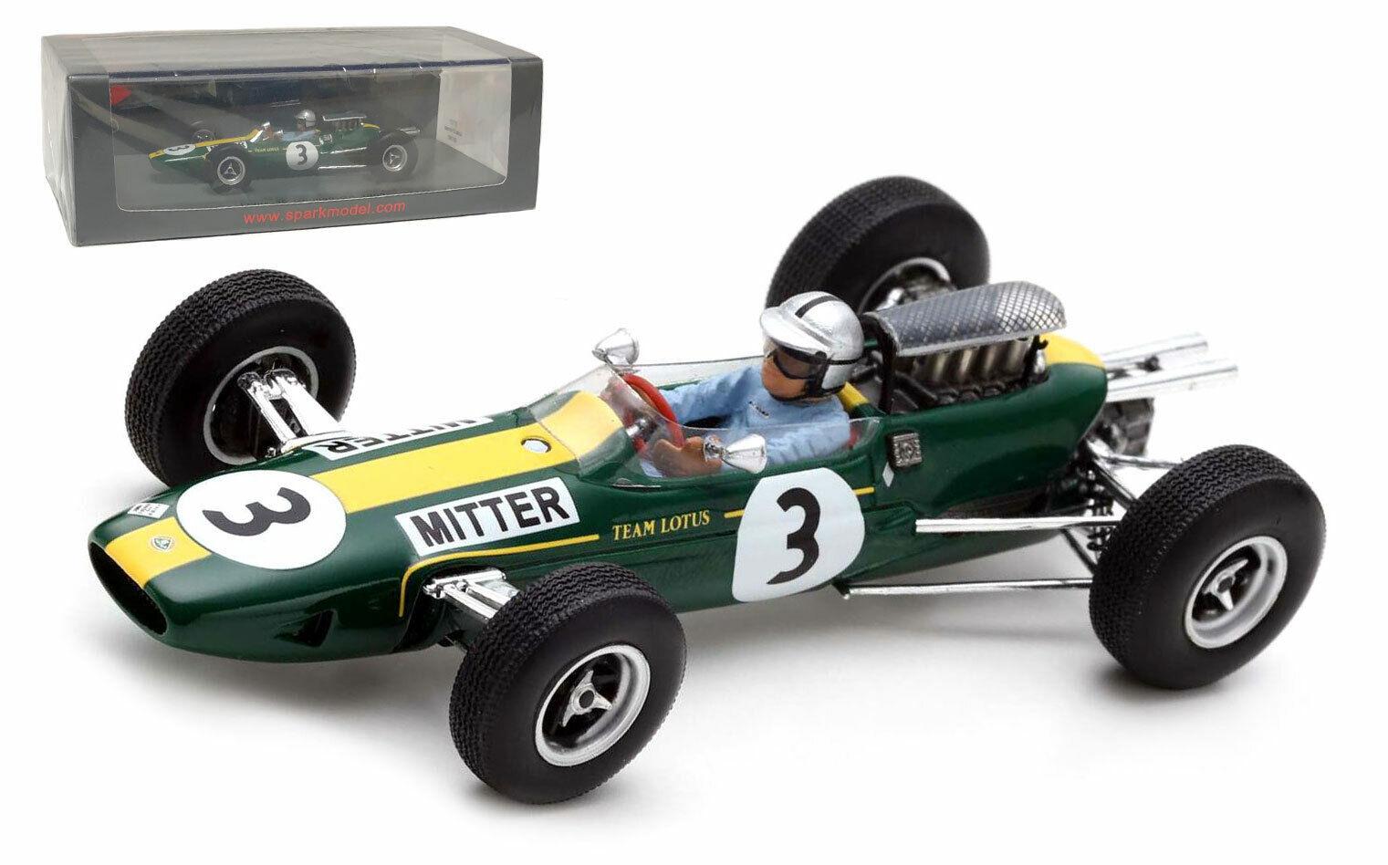 SPARK S7123 LOTUS 25  3 Gerhomme  GP 1965-Gerhard Mitter échelle 1 43  vente en ligne