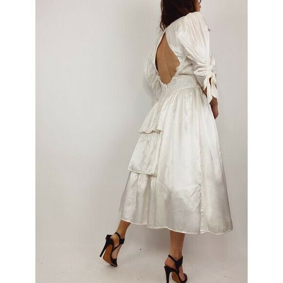 GUNNE SAX Jessica McClintock Size M Vintage White… - image 12