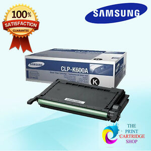 New-amp-Original-Samsung-CLP-K600A-Black-Toner-Cartridge-CLP-600-CLP-600N-CLP-65