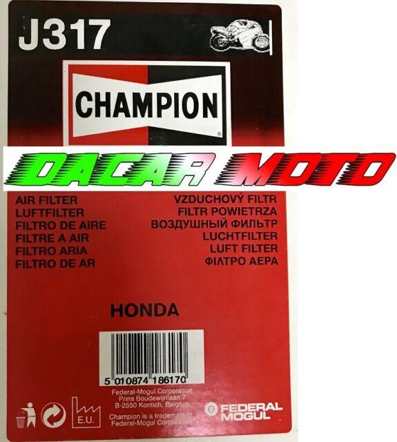 Air Filter Champion J317 Honda CB750 F2-N,P,R,S,T,V,W,x ,Y 1996 1997 1998 1999