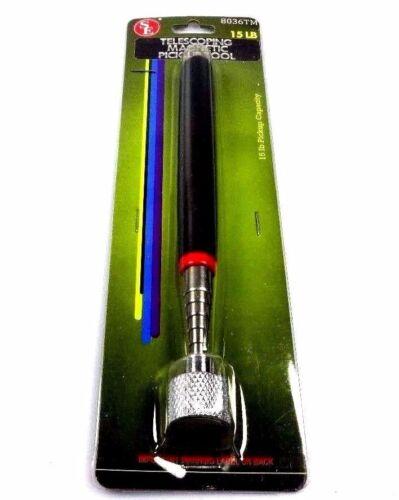 """Nouveau 15 lb environ 6.80 kg 30/"""" Télescopique Pick-Up Tool Télescopique Magnétique 4.5/"""" poignée longueur se"""