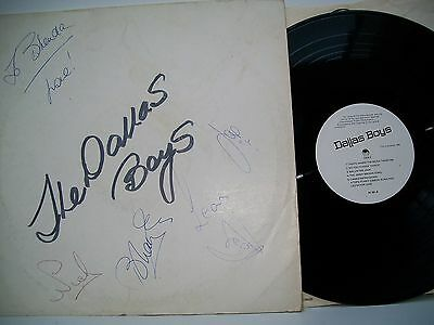 "12"" VINYL LP. The Dallas Boys. 1975. AS.001. Signed by all 5 members."