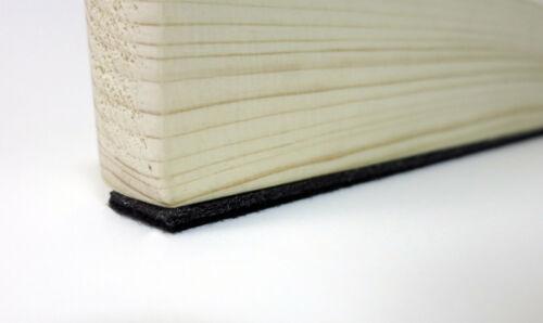 Filzstreifen 45mm breit stark selbstklebend Filzband schwarz ab 1m 3mm dick