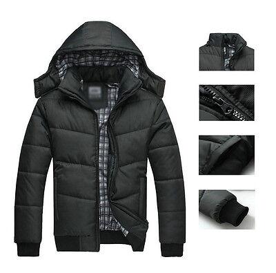 Men's Warm Hoodie Coat Parka Winter Coats Outwear Down Jacket Black Promotions