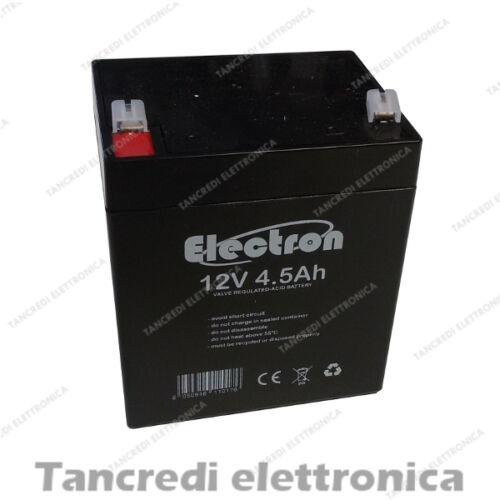 BATTERIA PIOMBO 12V 4,5Ah 90x70x101(h)mm PROFESSIONALE LUNGA DURATA