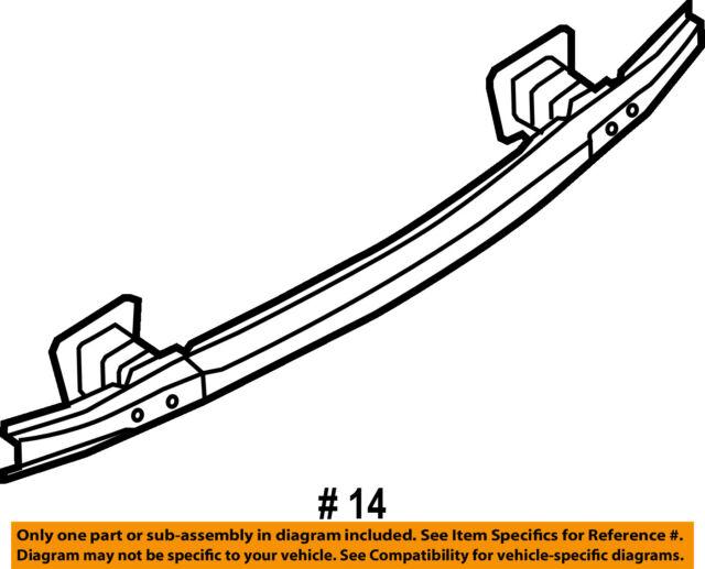 2010 Bmw 328i Sedan E90 Rear Bumper Crash Impact Reinforcement Bar