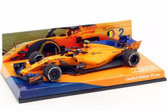Stoffel Vandoorne Mclaren MCL33 #2 Spagna Gp Formula 1 2018 1:43 minichamps