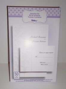 Wilton Diy Wedding Invitation Kit 50 Total Brand New In Package Ebay