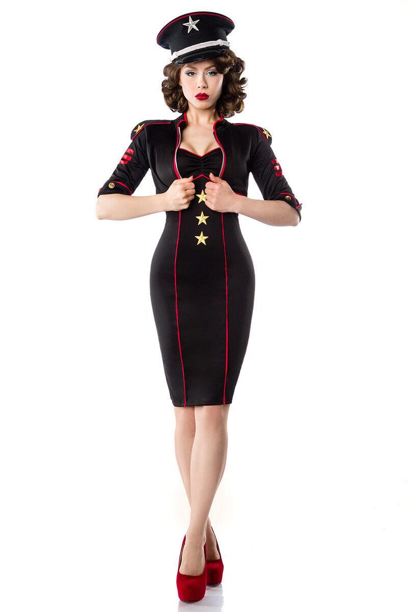Military Kleid mit Jacke schönes Set im Militär-Look Kleid Jäckchen 50er Jahre
