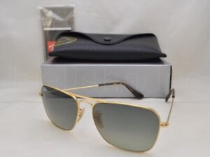 dfdd4bb770a Ray Ban CARAVAN (RB3136-181 71 58) Gold with Light Gray Gradient ...