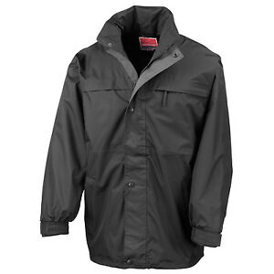 Result-R67A-StormDri-Performance-Outwear-Black-Grey-Water-Wind-Proof-Jacket