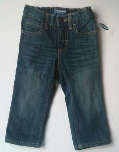 Old-Navy-Straight-Denim-Jersey-lined-Jeans-Baby-Boy-18-24-Months-NWT