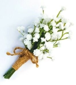 Baby-039-s-Breath-Buttonhole-for-Groom-Groomsman-Father-Brother-Gyp-Buttonhole