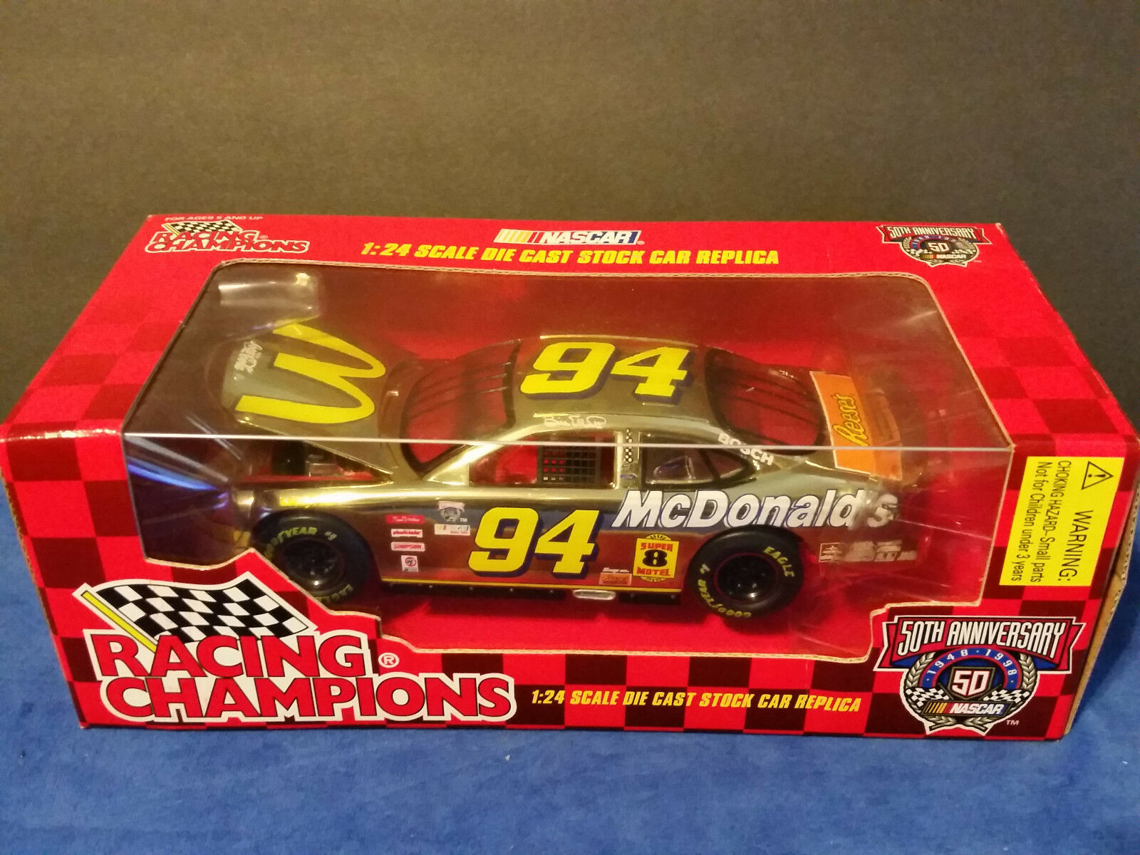 Nascar Bill Elliot Racing Champions 1 24 scale diecast 1998  gold