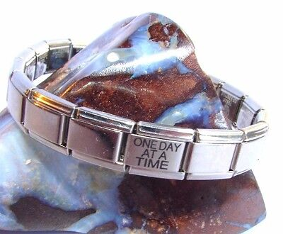 Alcoholics Anonymous AA One Day At A Time Italian Bracelet Charm Stainless Steel