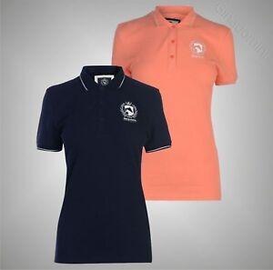 Senoras-Camisa-Polo-Clasico-Manga-Corta-necesarias-ecuestre-Tamano-Superior-8-16