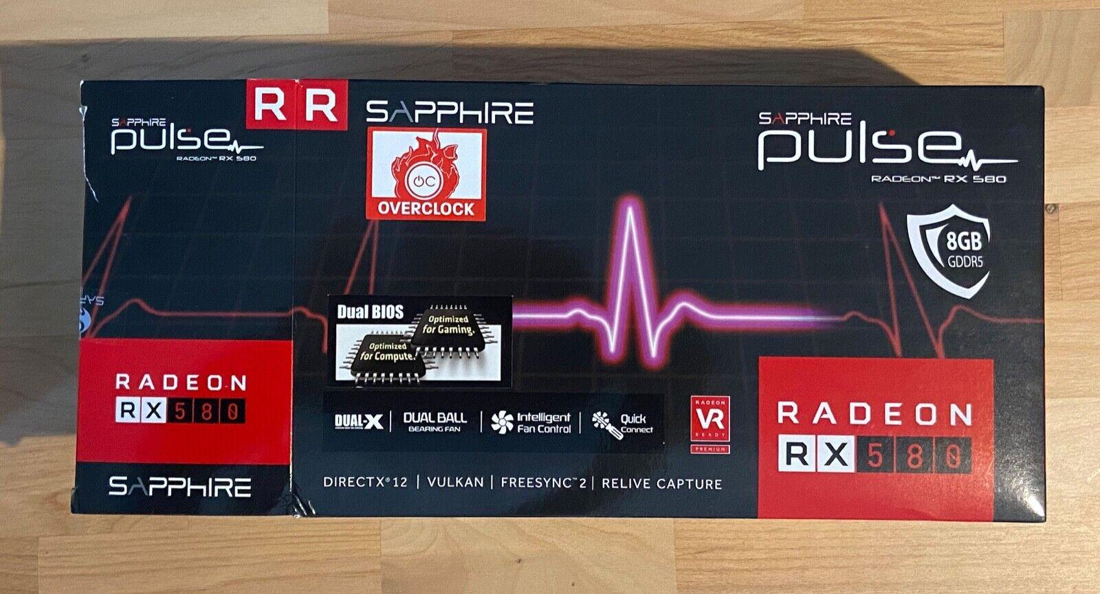 SAPPHIRE Pulse Radeon RX 580 8gb Gddr5 graphics card.