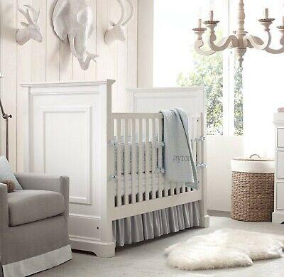 Restoration Hardware Baby & Child White Marlowe Panel Crib/Toddler Bed  (used) | eBay