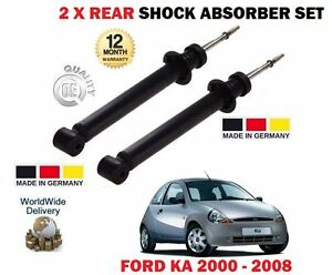 FOR FORD KA 1.0 1.3 1.6 2000-2008 NEW 2 X REAR LEFT + RIGHT SHOCK ABSORBER SET