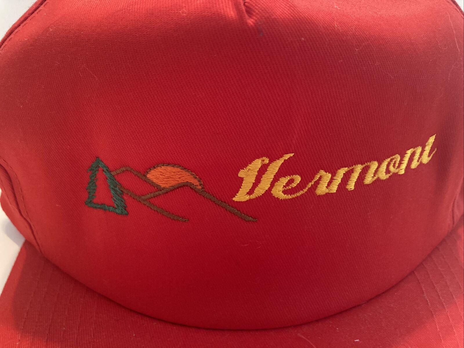 Vintage Red Vermont Snap Back Hat, J Hats, Embroi… - image 3