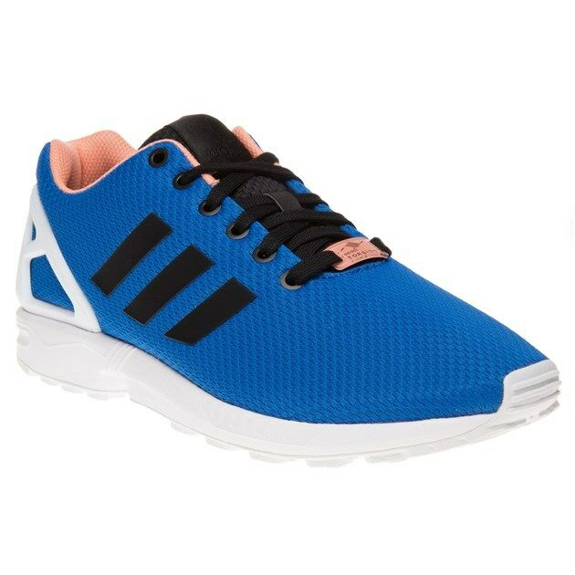 New Mens adidas Blue Zx Flux Textile Trainers Retro Lace Up