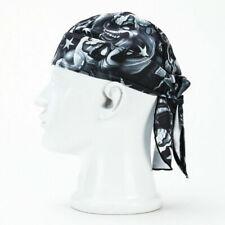 Cotton Biker Skull Cap Motorcycle Bandana Head Wrap Du Doo Do Rag Durag Sal R7X0