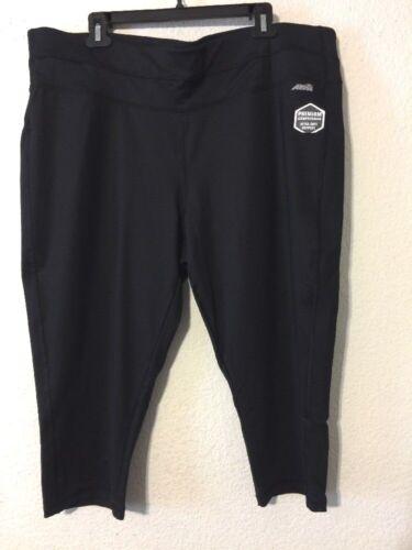 Women/'s Plus  Avia Black Active Ultimate  capri leggings size 3xl,4xl
