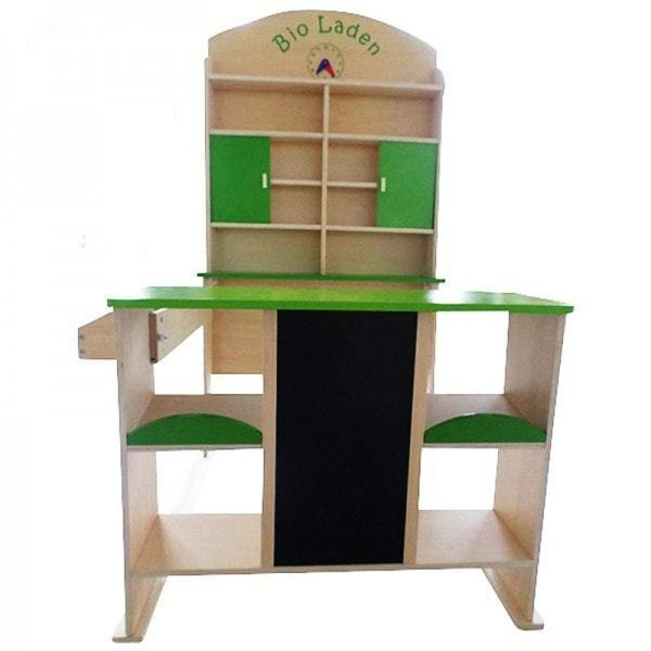 Kaufladen BIO-Laden Kaufmannsladen Verkaufsstand Marktstand aus Holz für Kinder