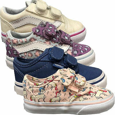 Vans Old Skool Unisex Kinder Schuhe Sneaker Klettverschluss Gr Eur 22 Neu Ebay