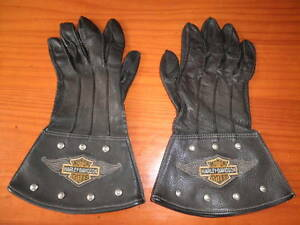 GUANTES-PIEL-MOTORISTA-VINTAGE-HARLEY-DAVIDSON-PRODUCTO-OFICIAL-MADE-IN-USA-L