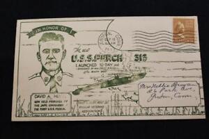 Naval-Housse-Guerre-Mondiale-2-1943-Machine-Cancel-Lancement-Uss-Perch-SS-313