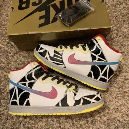Nike Sb Dunk High Thrashin Multi Colored 2008 Skat