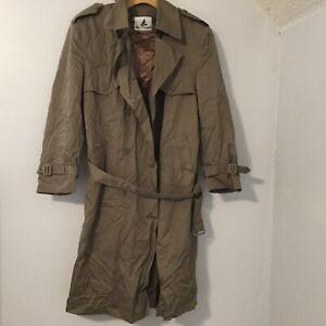 MISTY-HARBOR-Veg-Mens-Size-L-42-khaki-Long-RAINCOAT-Rain-Trench-Coat