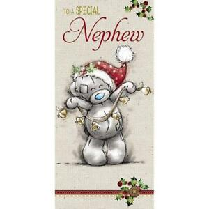 ME TO YOU TO A SPECIAL NEPHEW CHRISTMAS CARD TATTY TEDDY BEAR NEW GIFT