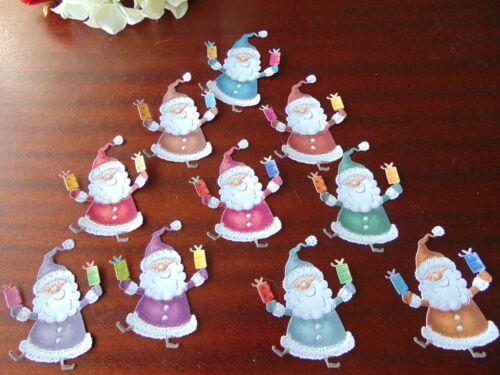 Tattered Lace Charisma Die Cut Cuts  CUTE CUDDLY CHRISTMAS SANTA x 10 colours