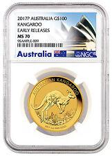 2017-P Australia $100 1 Oz Gold Kangaroo NGC MS70 ER Australia Label SKU43420